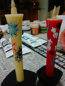 和蝋燭,絵付け,体験