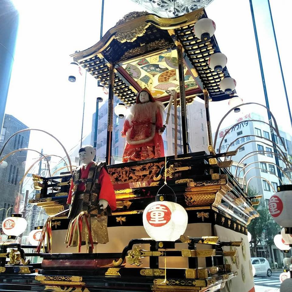 岡崎信用金庫 名古屋支店 からくり人形 山車