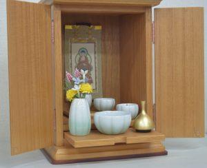 桐製,小さい,仏壇,A4